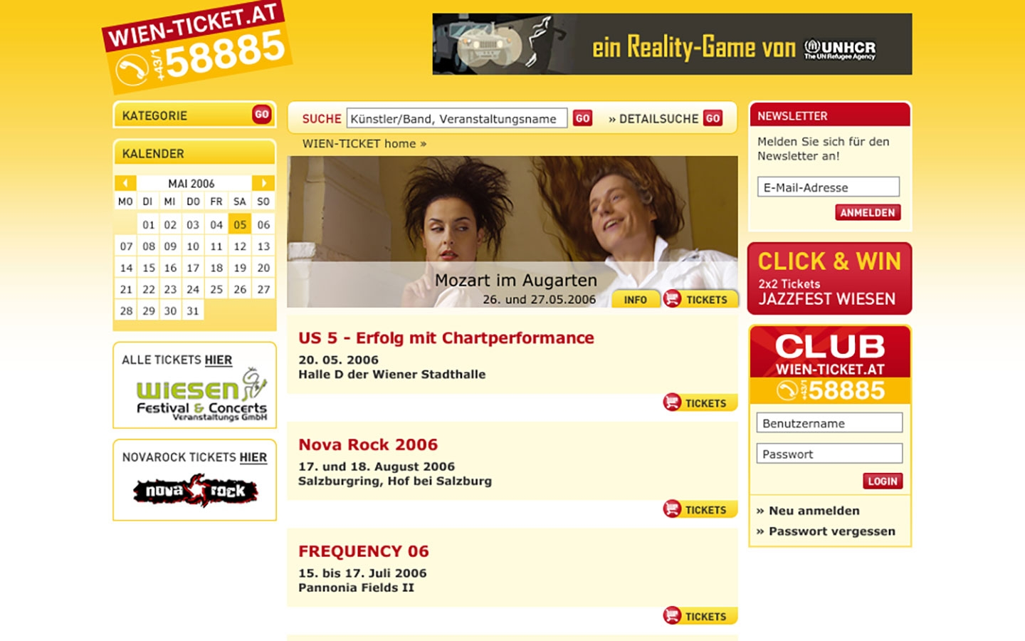 Wien Ticket | wien-ticket.at | 2006 (Screen Only 03) © echonet communication